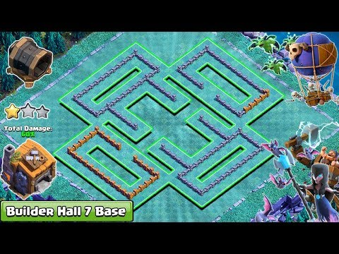 NEW COC BUILDER HALL 7 (BH7) BASE 2018   ANTI ALL TROOPS   CLASH OF CLANS