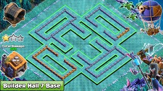 NEW COC BUILDER HALL 7 (BH7) BASE 2018 | ANTI ALL TROOPS | CLASH OF CLANS