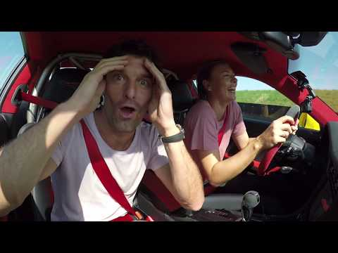 Maria Sharapova & Mark Webber in a 911 GT2 RS  Fast laps on the Porsche test track in Weissach