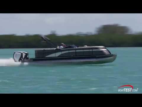 Bennington Q27(w/ 2 x 300-hp Evinrude E-TEC G2) (2018-)Test Video - By  BoatTEST com