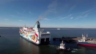 Passenger ferry Princess Anastasia appearance changed at BLRT Grupp shipyard. March 2017