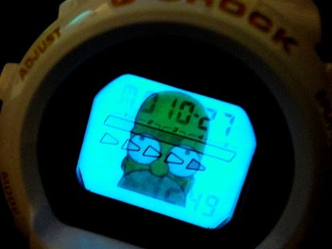 G Shock !! How To Make A Custom Backlight !! HOMER SIMPSON By TheDoktor210884 Unboxing And Reviews