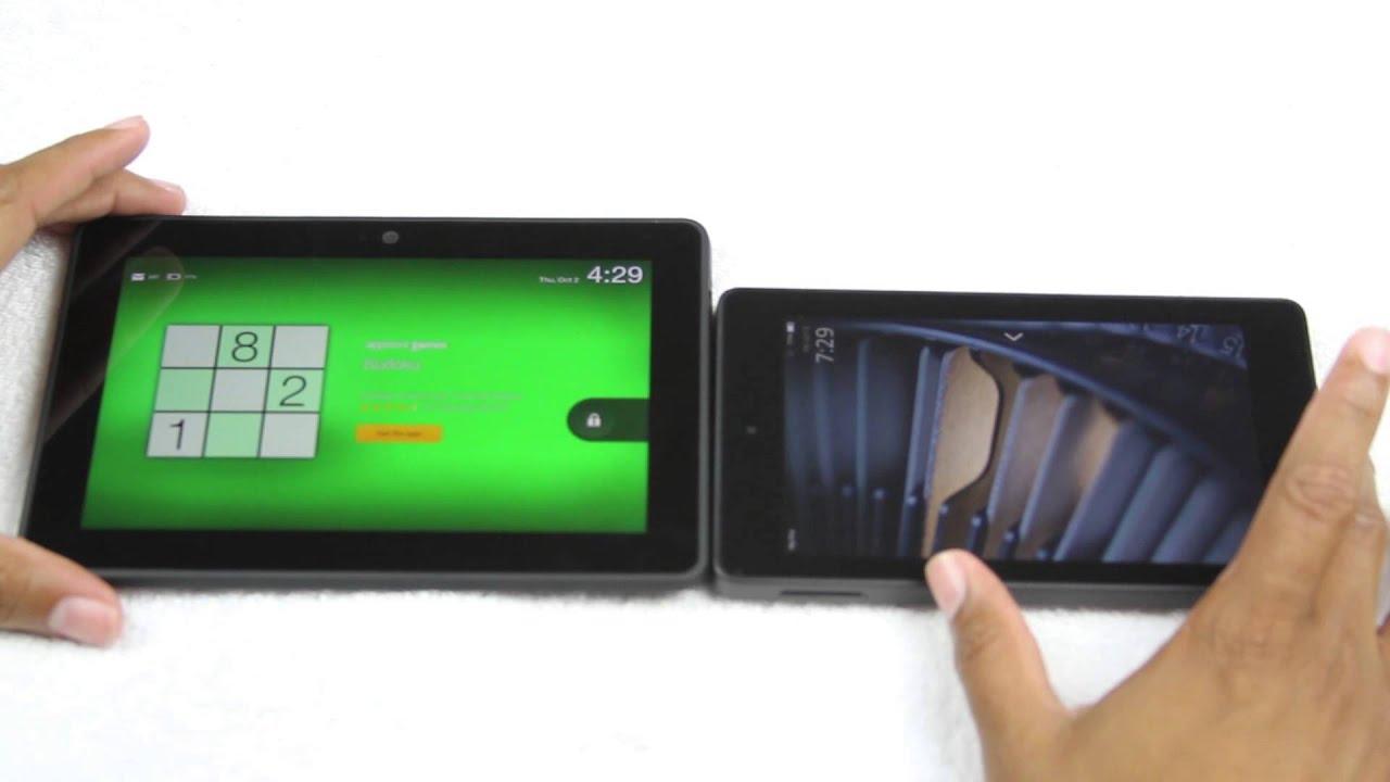 fire hd   kindle fire hdx size comparison htechvideos youtube