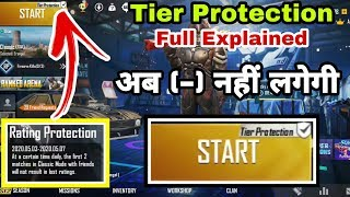 Pubg Mobile Tier Protection new event full explained | No Points Deducted Team Up Now