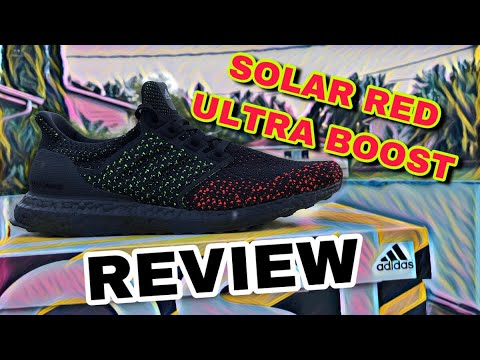 e12dd35a278 ADIDAS ULTRA BOOST CLIMA BLACK SOLAR RED REVIEW - YouTube