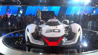 Hyundai Muroc Supercar & beautiful girl at Delhi Auto Expo