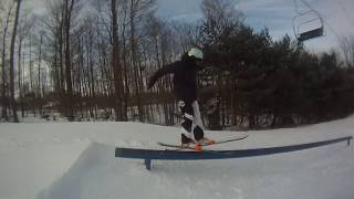 How To Hit A Rail On Skis!