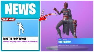 HOW TO CLAIM RIDE THE PONY EMOTE FOR FREE IN FORTNITE! FREE PONY UP EMOTE TO OG PLAYERS (SEASON 10)