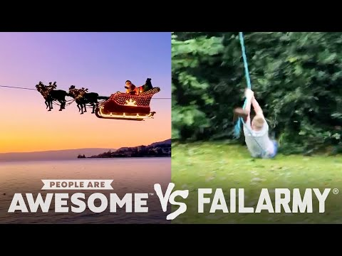 Downhill Skating, Zipline, & Diving Wins VS. Fails | People Are Awesome VS. FailArmy