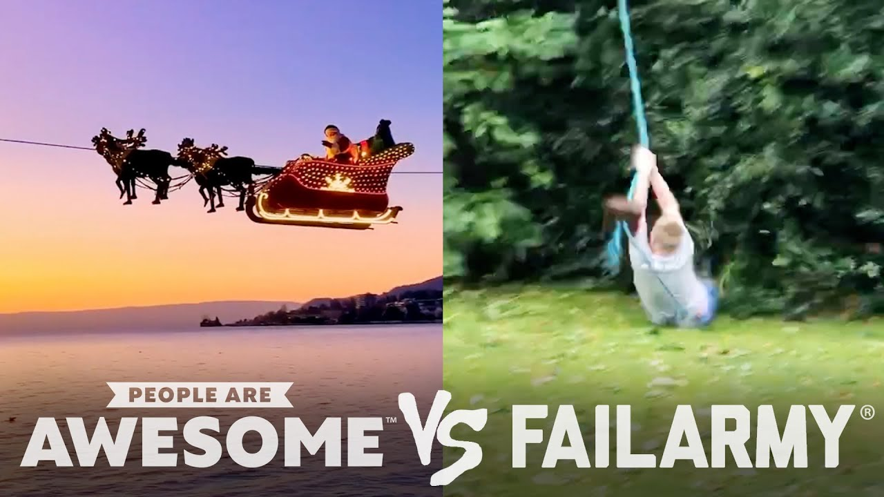 Downhill Skating, Zipline, & Diving Wins VS. Fails   People Are Awesome VS. FailArmy