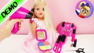 Lokny pro sestru Baby Born? Učíme se česat se skvělým setem | účes a Make up, ...