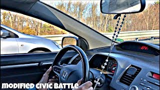 Honda Civic Si Race - Battle of the generations