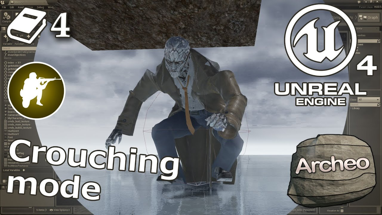 Unreal Engine 4 Guide - Crouching mode