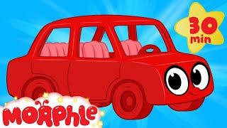 my red car morphle meets the robot cars my magic pet morphle video for kids