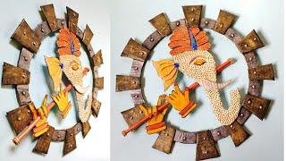 Ganpati Wall Decor Craft | Wall Decor Ideas | Wall Decoration showpiece | DIY | By Punekar Sneha