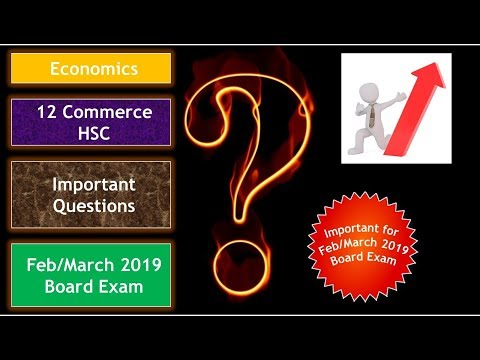 Economics (ECO) 12th Commerce Important Questions Feb/March-2019