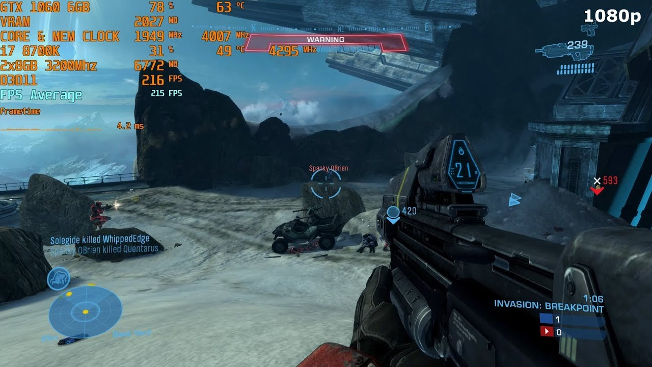 Halo Reach Master Chief Collection For Pc Max Settings In 1080p 4k Gtx 1060 6gb I7 8700k