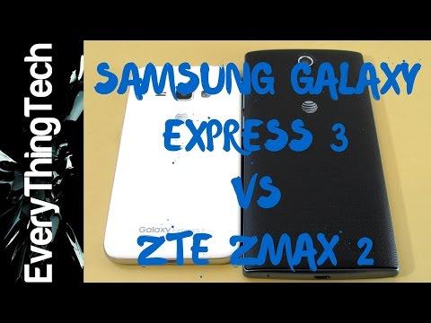 Samsung Galaxy Express 3 VS ZTE Zmax 2