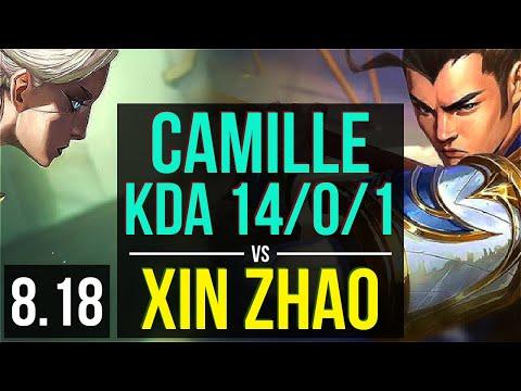 CAMILLE vs XIN ZHAO (JUNGLE) | KDA 14/0/1, Legendary | Korea Challenger | v8.18