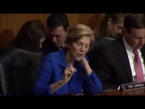 Senator Warren Asks HHS Nominee Alex Azar About Drug Companies Breaking the Law
