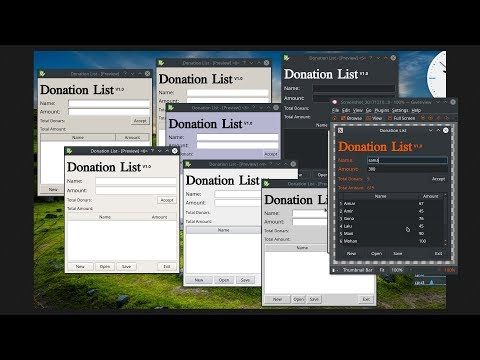 Creating a Simple Application: Donation List (Python & QtDesigner)_2