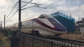 【鉄道動画】天童南駅にて E3系「つばさ」通過シーン