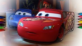 Cars 3 - Lightning McQueen and Sally Carrera - Coloring Pages For Children With Color & Kids TV
