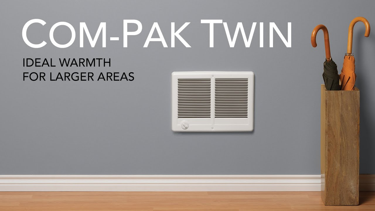 Cadet Com-Pak Twin electric wall heater | Cadet Heat - YouTube