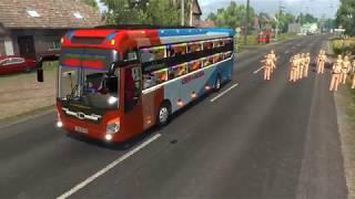 [THACO MOBIHOME] Hành Trình vượt chốt CSGT với xe khách cty Chín Nghĩa game ETS2