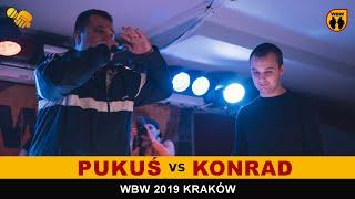 Zapętlaj KONRAD vs PUKUŚ 🎤WBW2K19🎤 Kraków (1/4) Freestyle Battle   WBWtv