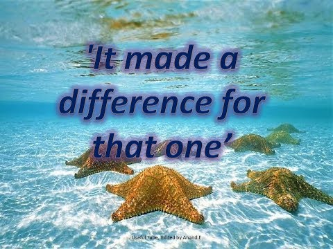 The Best Motivational Video Ever - The Story Of A Starfish