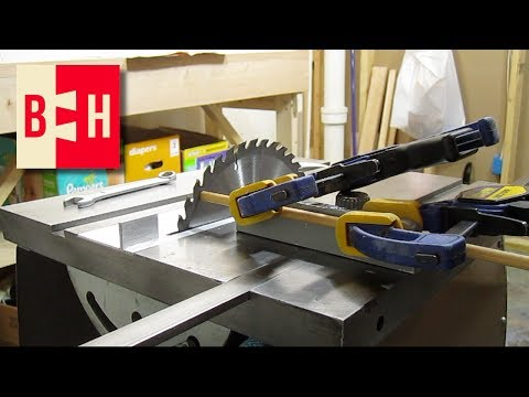 Aligning Table Saw Blade to Miter Slots