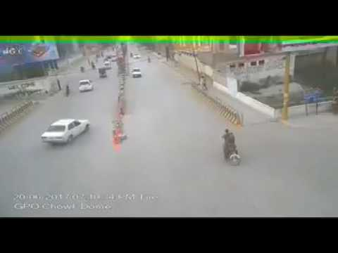 Brutality of Pakistani Law. Maker . On duty traffic cop run over