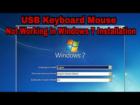 Usb keyboard mouse hang on installation of window 7 on new computer laptop  with usb 3 0 and uefi fix