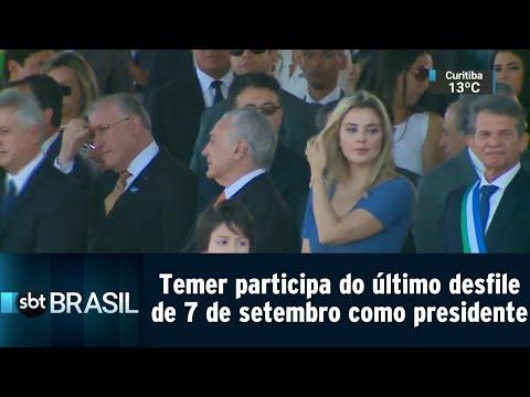 Temer participa do último desfile de 7 de setembro como presidente | SBT Brasil (07/09/18)