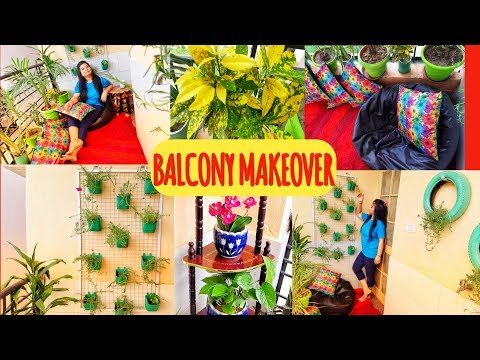 Extreme Balcony Makeover on Budget|| Easy DIY Planters||Indian Balcony Decorations||Smile With Swati