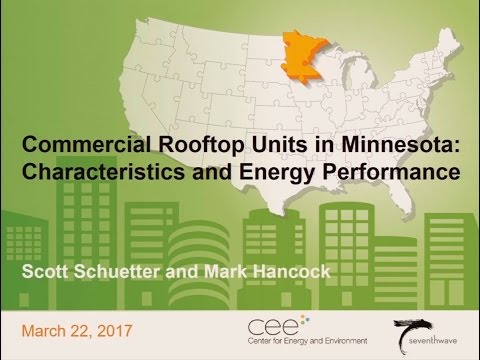 Commercial rooftop units in Minnesota: Characteristics and energy performance