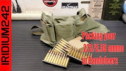 Packing your 223/556 Ammo In USGI Bandoleers For Storage
