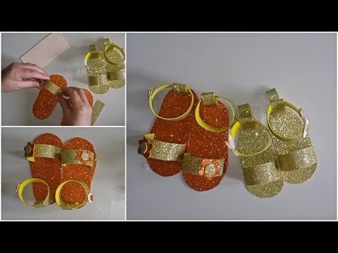 DIY Glitter Foam Slippers - Fun Activity to Do at Home With the Kids