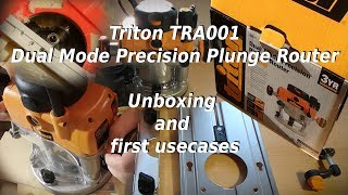 What you can do with plunge router - Triton TRA001 in use