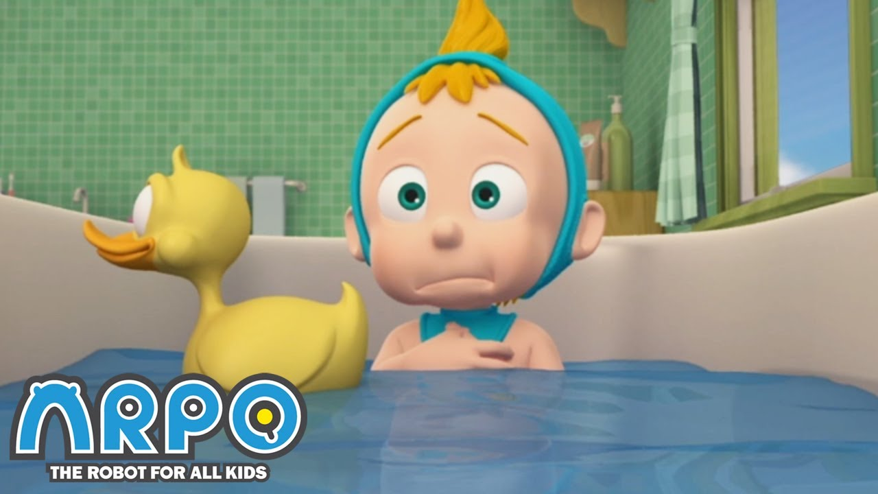 BATH TIME FOR BABY | Cartoons for Kids | Full Episode | Arpo the Robot