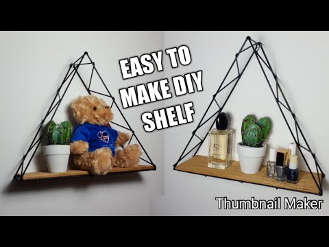 How to make a diy shelf / easy and cheap to make. Made from flower sticks and bbq sticks.