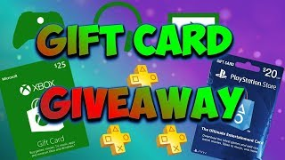 *FREE* MASSIVE Gift Card Giveaway! (PSN/XBOX/STEAM/AMAZON/ITUNES/ROBLOX)