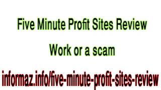 Five Minute Profit Sites Review - How to make money with affiliate marketing for beginners