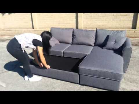 VENDO DIVANI ad angolo che diventano letto - YouTube