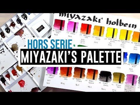 Miyazaki's watercolor palette! - From...