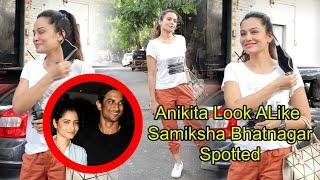 Poster Boys Actress Samiksha Bhatnagar Spotted Outside Shimmer Entertainment Office
