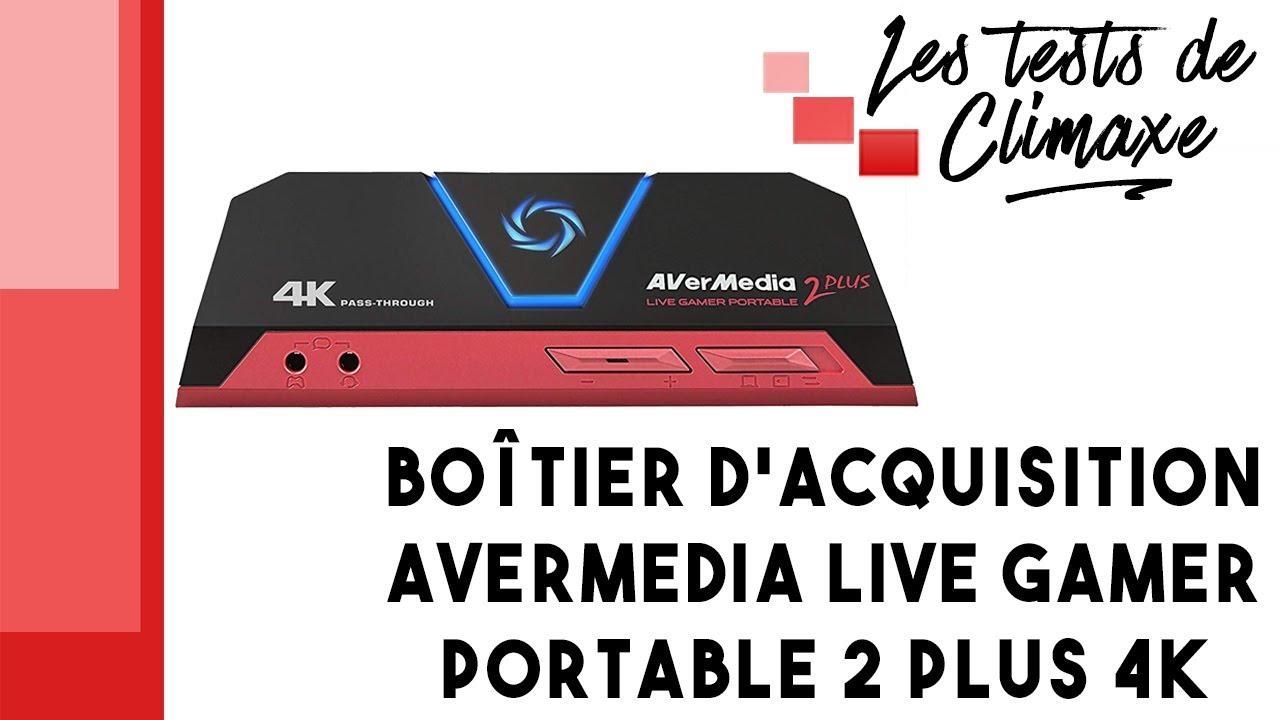 Test du boîtier d'acquisition AverMedia Live Gamer Portable 2 Plus 4K  (GC513)
