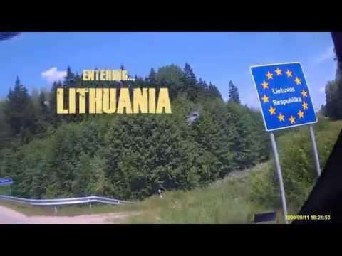 Crossing the polish-lithuanian border