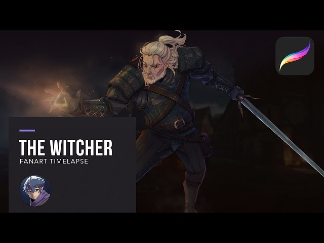 Drawing The Witcher in Procreate